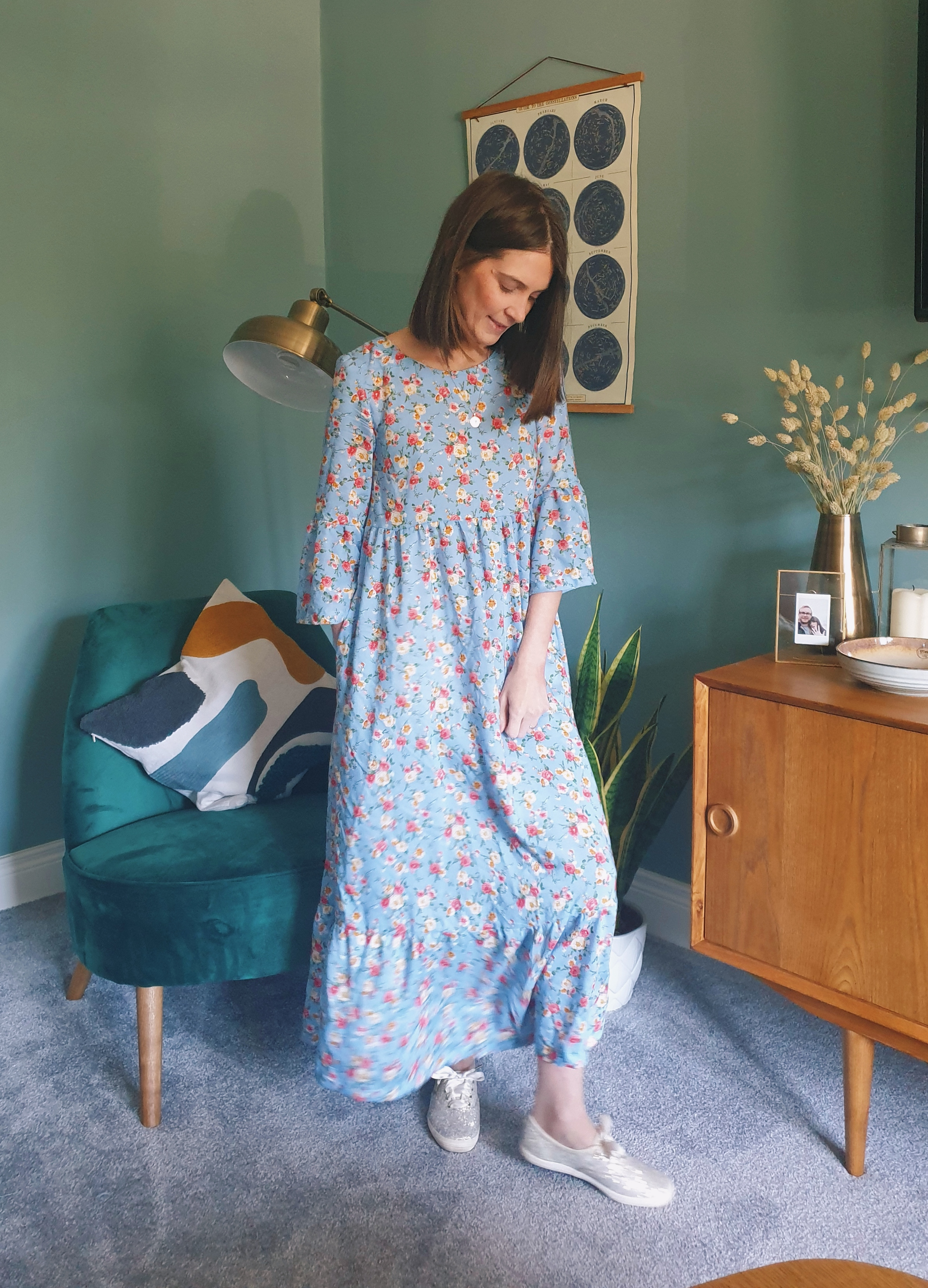 What Becs Sews –  Maxi Indigo Dress
